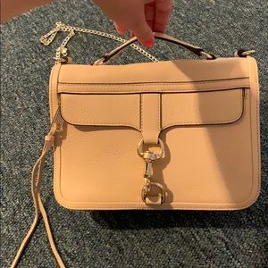 Handbags - Rebecca MINKOFF neutral bag gold chain convertible